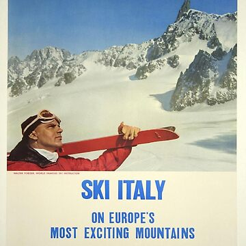 Vintage poster - Ski Italy by mosfunky