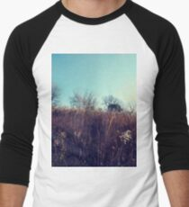 #landscape #nature #tree #season #outdoors #leaf #wood #flower #environment #field #sky #agriculture #horizontal #colorimage #plant #nopeople #autumn #day #ruralscene #scenicsnature #nonurbanscene Men's Baseball ¾ T-Shirt