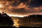 Autumn Sun on Loch Ard by David Mould