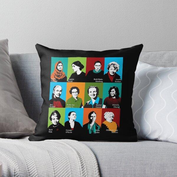 Feminist Icons Throw Pillow