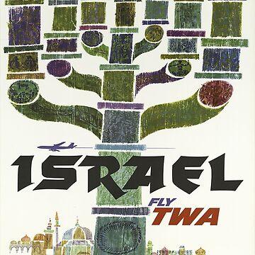 Vintage poster - Israel by mosfunky