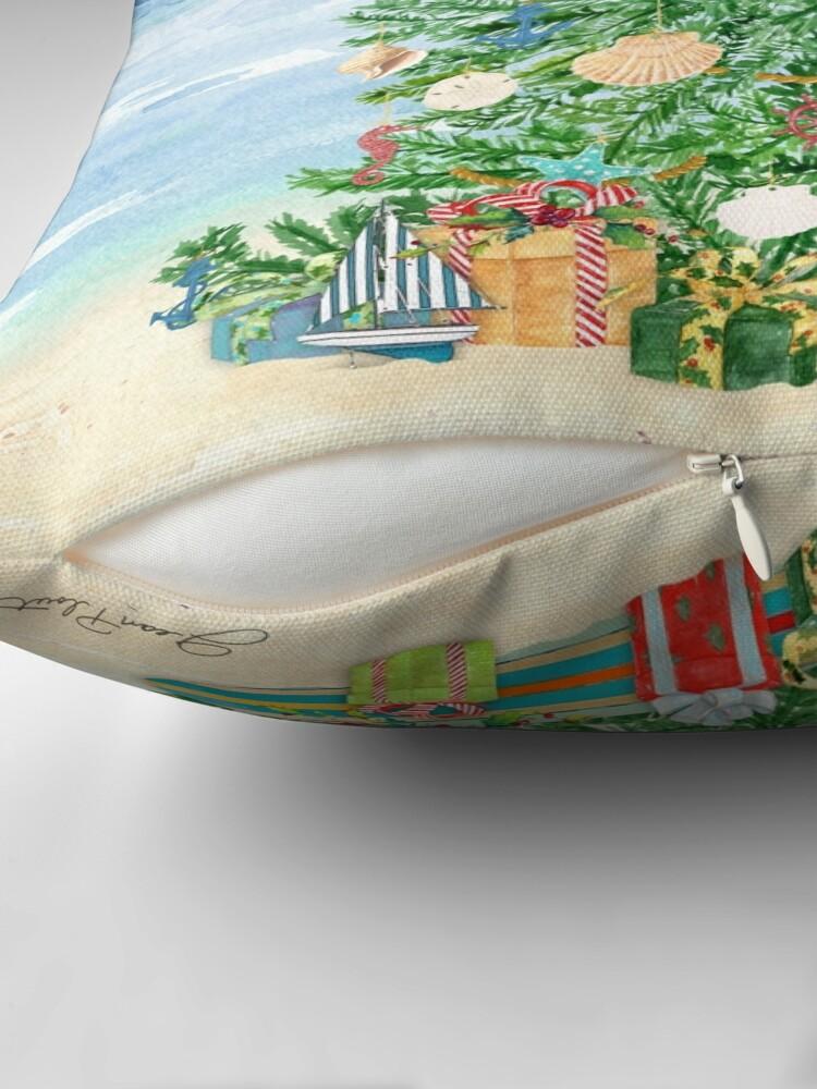 Alternate view of Coastal Christmas B Throw Pillow