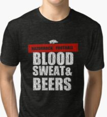 Razorback Football- Blood, sweat, and beers  Tri-blend T-Shirt