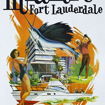 Vintage poster - Miami and Fort Lauderdale by mosfunky