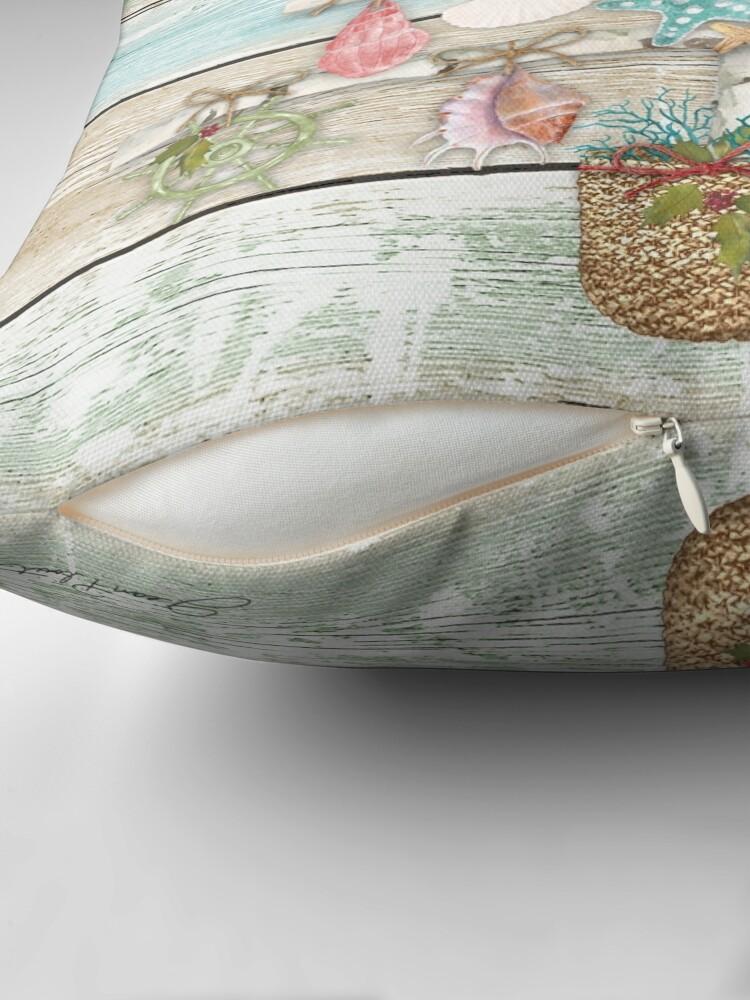 Alternate view of Coastal Christmas A Throw Pillow