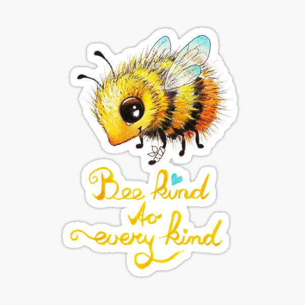 Bee by Maria Tiqwah Sticker