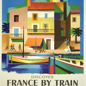 Vintage poster - French Riviera by mosfunky