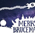 Merry Brucemas! Flying Overhead by BattleBird