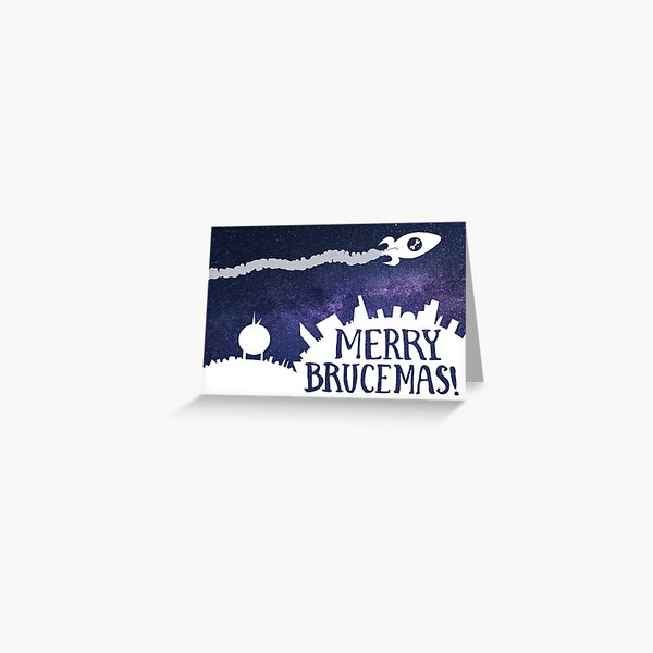Merry Brucemas! Flying Overhead Greeting Card