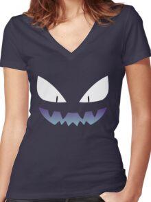 Pokemon - Haunter / Ghost (Shiny) Women's Fitted V-Neck T-Shirt