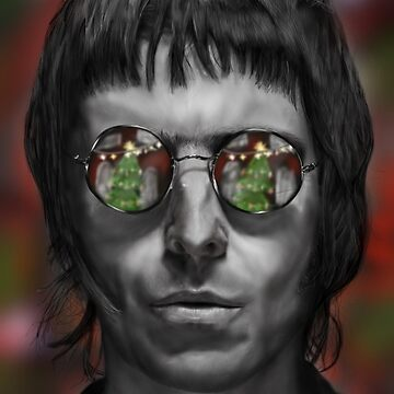 Liam Gallagher Christmas Drawing by iRussJ