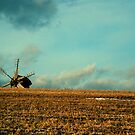 a mill is in the field of wheat by Iuliia Dumnova