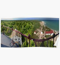 From the South Manitou Lighthouse Poster