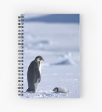 Emperor Penguin and Chick - Snow Hill Island Spiral Notebook