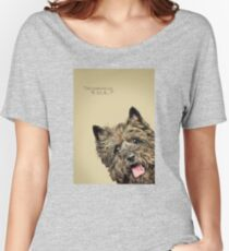 Curious and Cute Cairn Terrier Women's Relaxed Fit T-Shirt