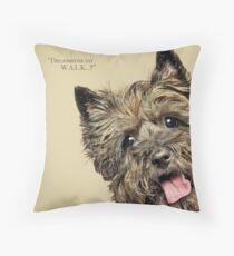 Curious and Cute Cairn Terrier Throw Pillow
