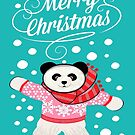 Panda Christmas card by MagentaRose