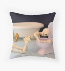 Obsessive Bulimic Throw Pillow