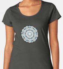 Blue Black White Mystic Mandala Women's Premium T-Shirt