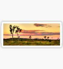 Sunset on the plain HDR Sticker