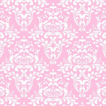 Happy,pink,damasks,pattern by love999