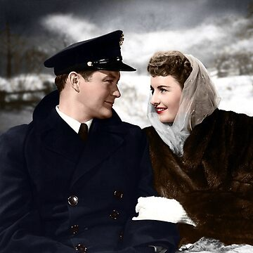 Christmas in Connecticut, 1945 - Colorized by Laurynsworld