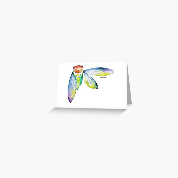 Cicada watercolour Greeting Card