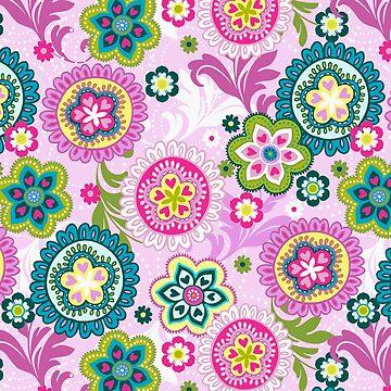 Boho,retro,70's,pattern,vintage,floral by love999