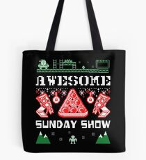 Pizza Christmas Sweater Tote Bag
