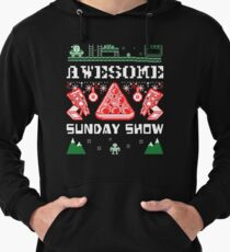 Pizza Christmas Sweater Lightweight Hoodie