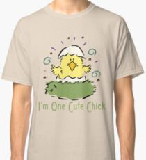 """Easter Chick """"I'm One Cute Chick"""" Classic T-Shirt"""