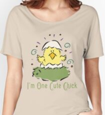 "Easter Chick ""I'm One Cute Chick"" Women's Relaxed Fit T-Shirt"