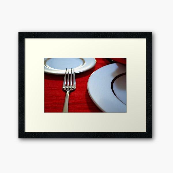Red Setting Framed Art Print