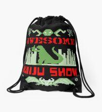 Awesome Kaiju Show Drawstring Bag