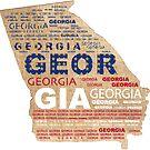 Georgia | State Art mit rotem Weiß und Blau von PraiseQuotes