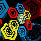 Hexagon Mess In Outer Space by Ann Morgan