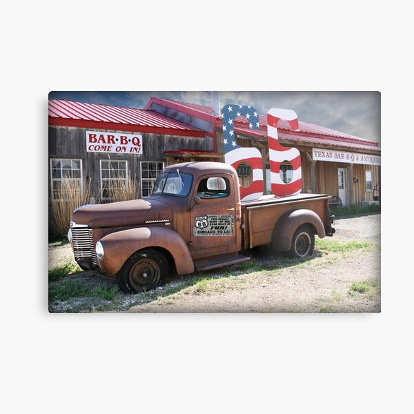 Route 66 in Adrian, Texas Metal Print
