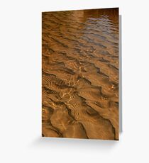 Tidal River ripples - Wilson's Prom Greeting Card