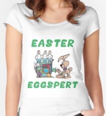 "Happy Easter ""Easter Eggspert"" Women's Fitted Scoop T-Shirt"