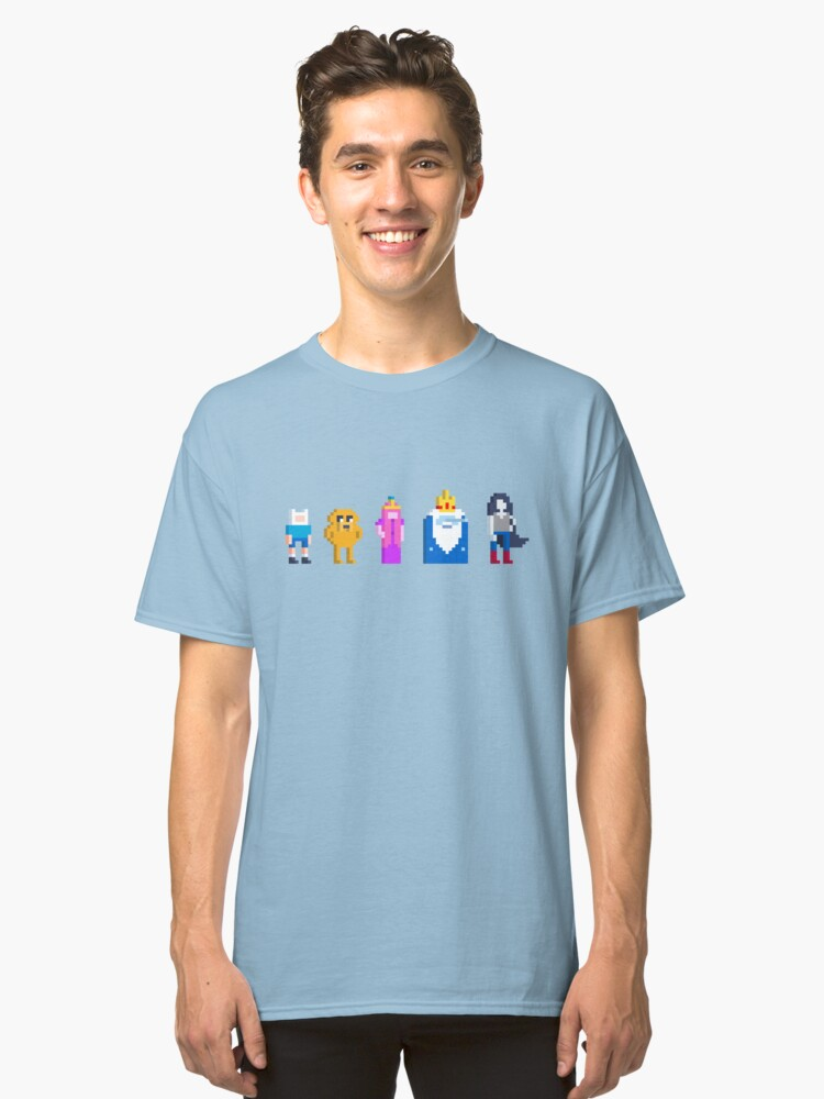 Alternate view of Adventure Time Lineup Voxel Style Classic T-Shirt