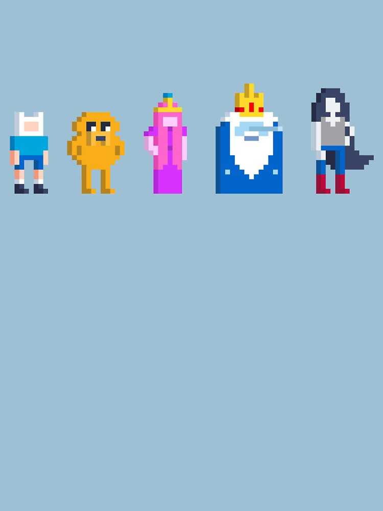 Adventure Time Lineup Voxel Style by Doomgriever