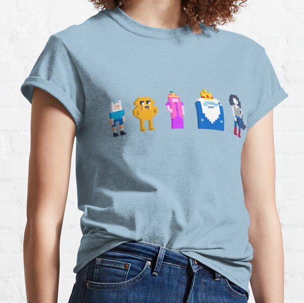 Adventure Time Lineup Voxel Style Classic T-Shirt