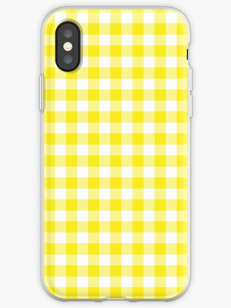 huge selection of 34165 8d19c 'Yellow and White Gingham' iPhone Case by starrylite