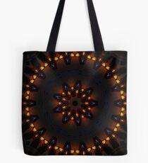 Dark Orange Mysterious Mandala Tote Bag