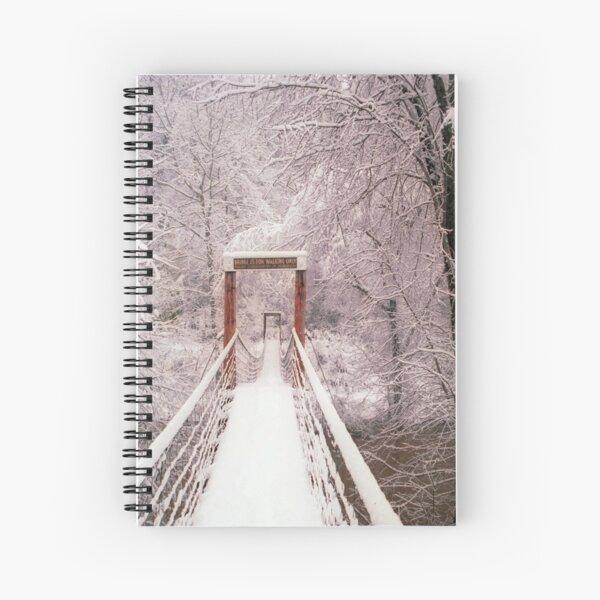 Old Mill Park Swinging Bridge Spiral Notebook