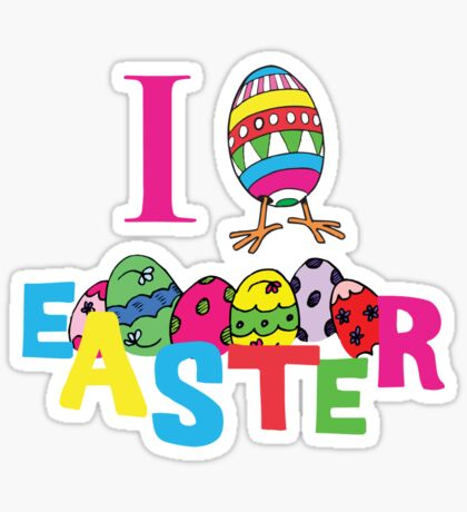 "Easter ""I Love Easter"" Sticker"