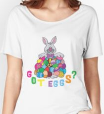 """Happy Easter """"Got Eggs"""" Women's Relaxed Fit T-Shirt"""