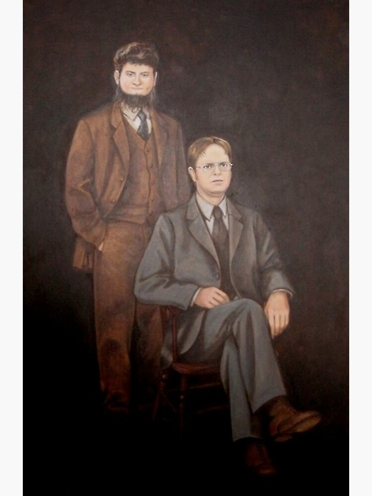 Dwight And Mose Painting  by historicalstuff