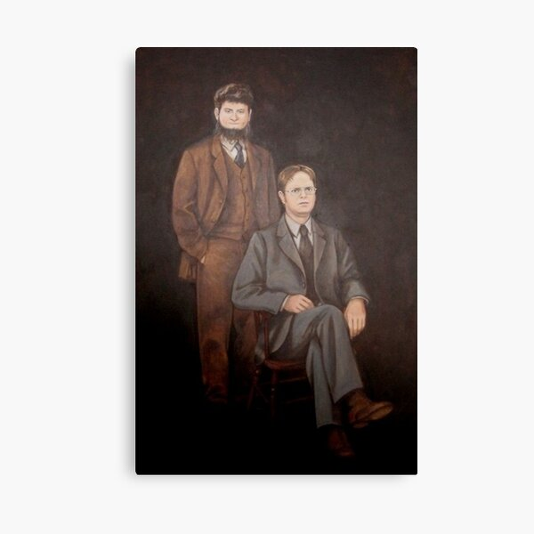 Dwight And Mose Painting  Canvas Print