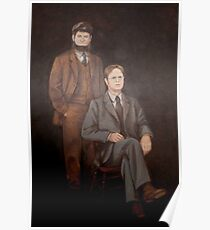 Dwight And Mose Painting  Poster